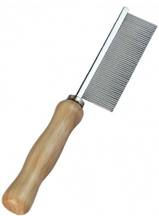 Narrow tooth comb with wooden handle - 2